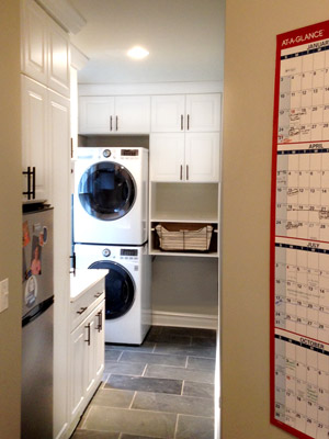 custom laundry unit for vertical laundry units with canvas basket