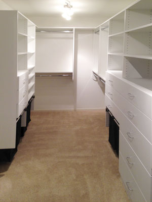 custom white laminate walk-in