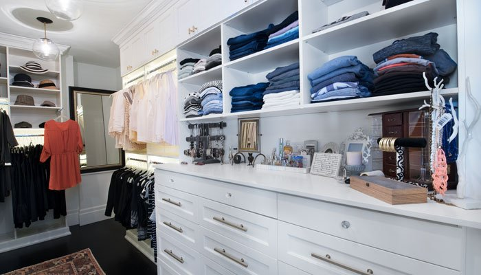 custom walk in closet designs with 15 drawer hutch