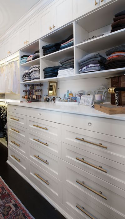 custom walk in closet dresser hutch with lowland drawers