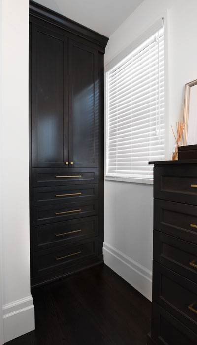 built-in closet armoire