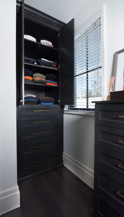 built-in closet armoire cabinets open