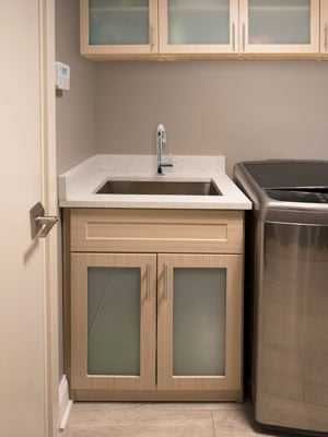 laundry room cabinets in summer breeze TFL