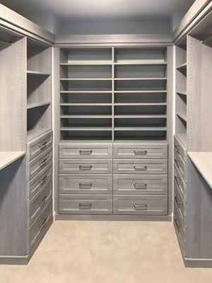 custom walk in closet in river rock TFL