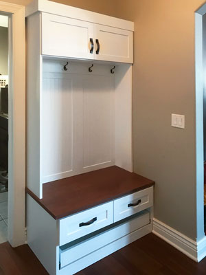 mudroom design for small wall