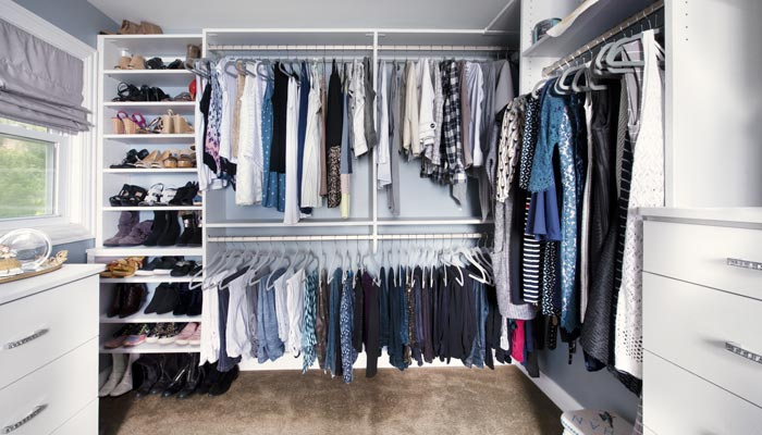 canvas walk in closet system