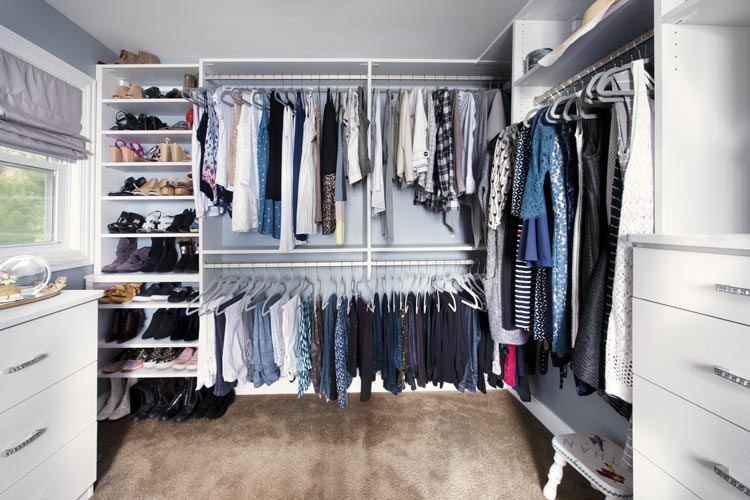 expansive luxury walk in closet dressing room