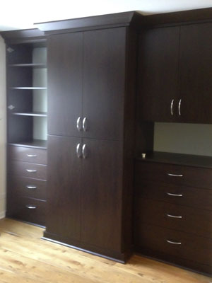 cocoa laminate wall unit