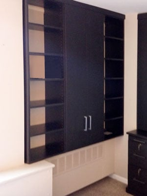 custom libretti office wall unit