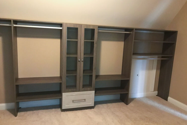 walk-in closet for sloped ceiling room in blackwood TFL