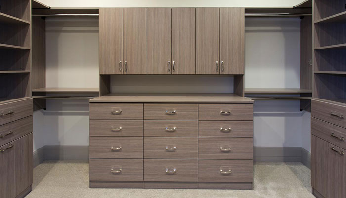 walk in closet doors and drawers in contempo