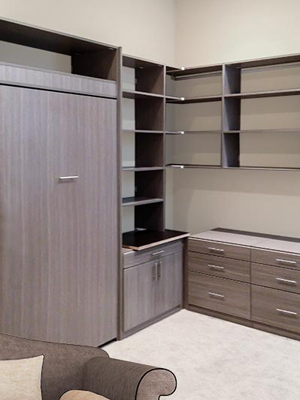 custom wall bed unit