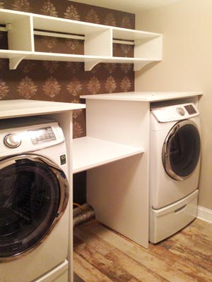 custom laundry unit
