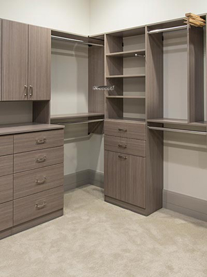 closet with custom features