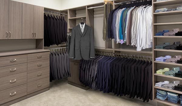 Large Master Walk In Closet for Him
