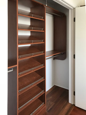 corretto cherry reach in bedroom closet