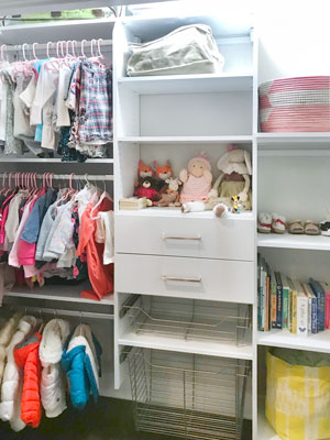 custom nursery closet for growing baby