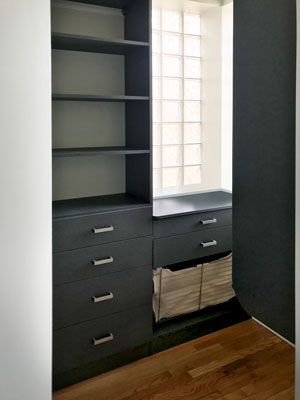 chino master walk in closet with closet window