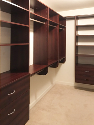 shiraz cherry suspended closet