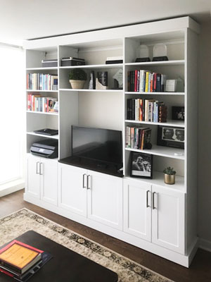wall unit for home office