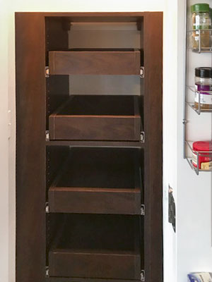 pantry for small space with pull out shelves