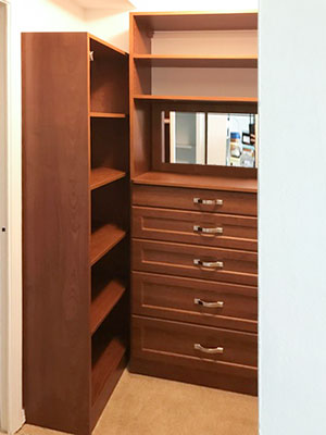 corretto cherry master walk in closet maximized