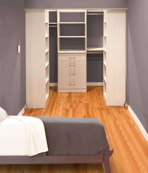 open closet ideas for a smaller space or reach in closet