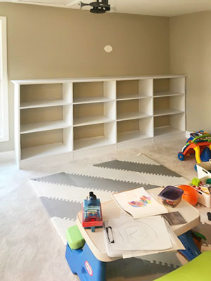 playroom wall unit design