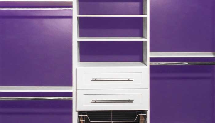Reach-in closet ideas: use a bright paint color on the inside