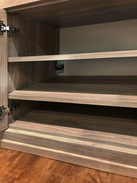 wire management for custom home entertainment center