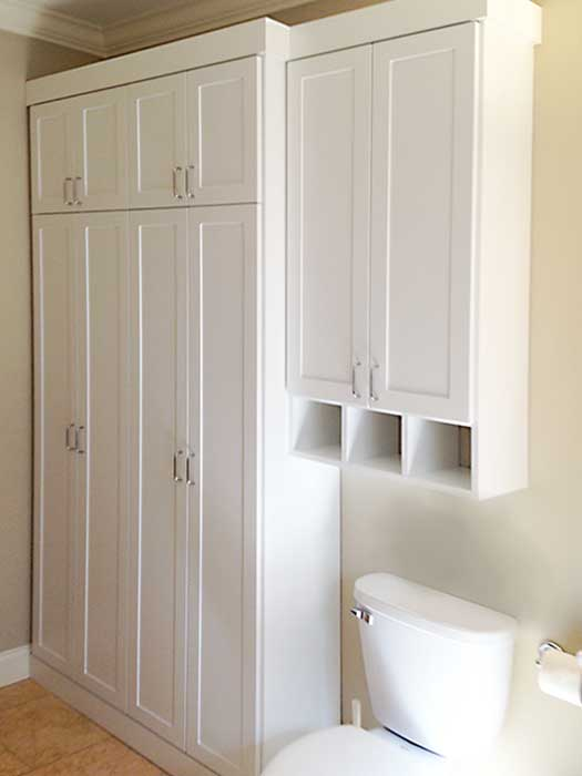 closet solutions for bathoom linen and toiletry storage needs