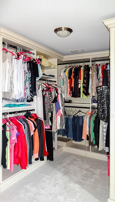 Elegant Closets For Angled Walls