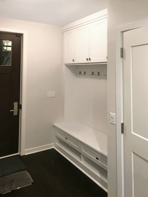 mudroom storage unit