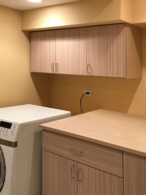 laundry room cabinets in summer breeze