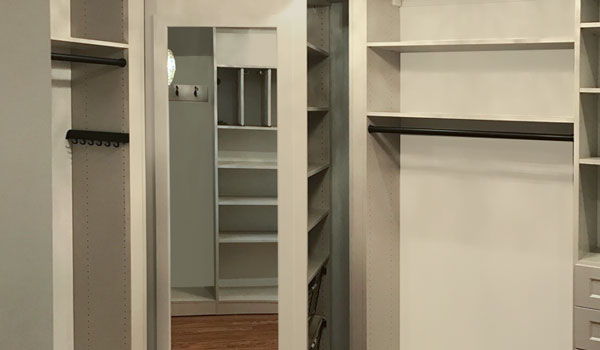 walk in closet ideas with customized 360 Organizer valet