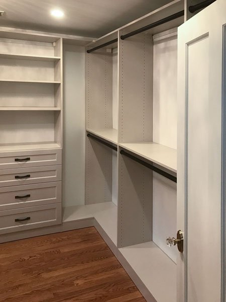 closet organizing ideas include a closet hutch