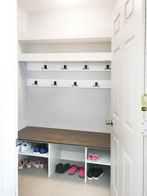 mudroom walk in closet design