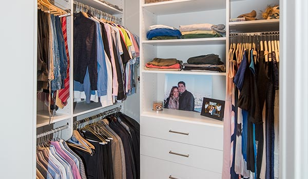 custom walk-in closet ideas for a long and narrow walk-in
