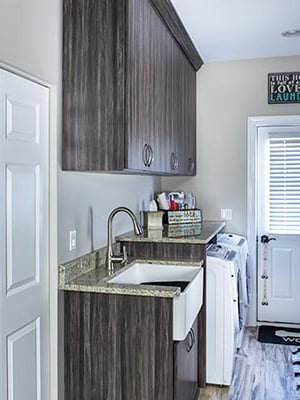custom cabinets with sink cabinet for laundry room