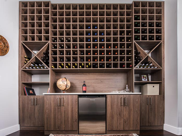 Wine Storage Solutions Fits Discreetly Along A Hallway