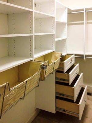 custom closet pull-out baskets