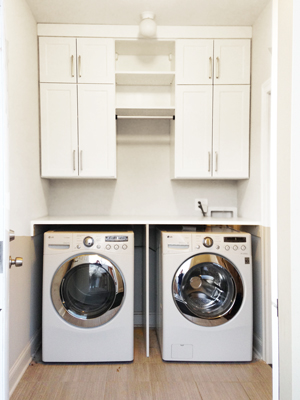 custom laundry room unit