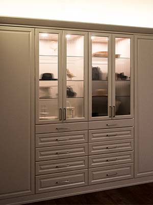 wardrobe style closet in painted MDF