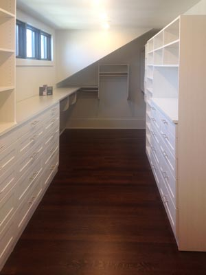 custom sloped closet