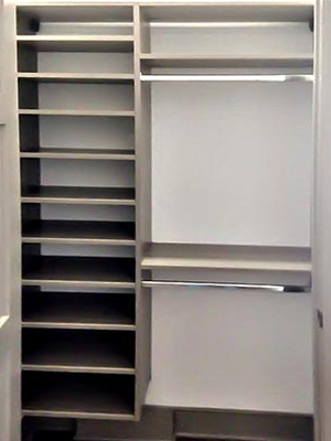custom shelving and wall unit organization system