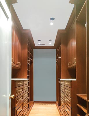 custom closet organization system in wood