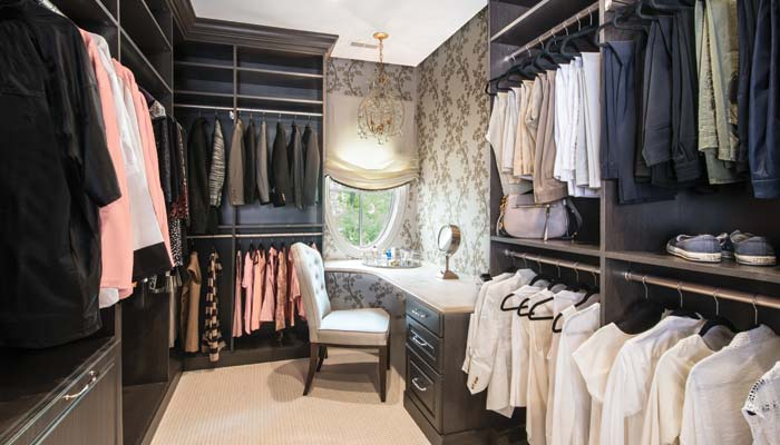 custom closet and dressing room
