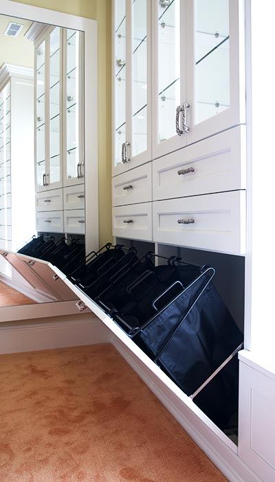 Built In Tilt Out Closet Hampers