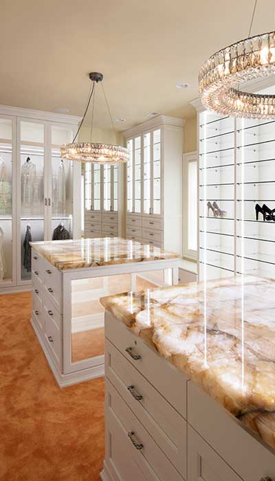 lighting for closets is expected in high-end homes