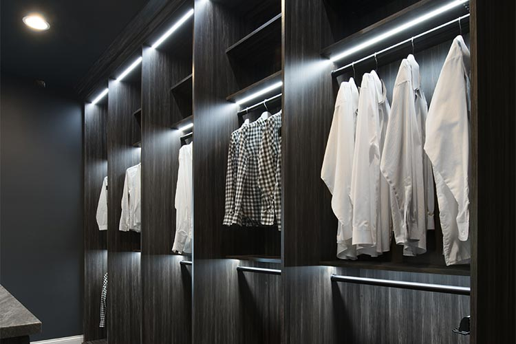 Custom Closet Lighting Options With Led Closet Lights